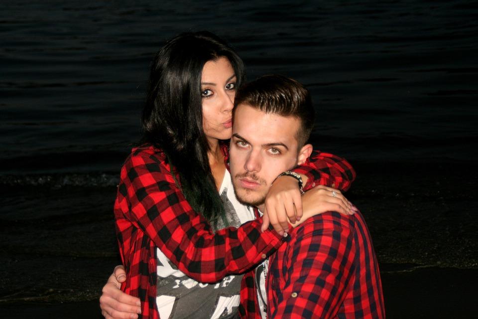 Couple, Love, Beauty, Romance, Water, Beach