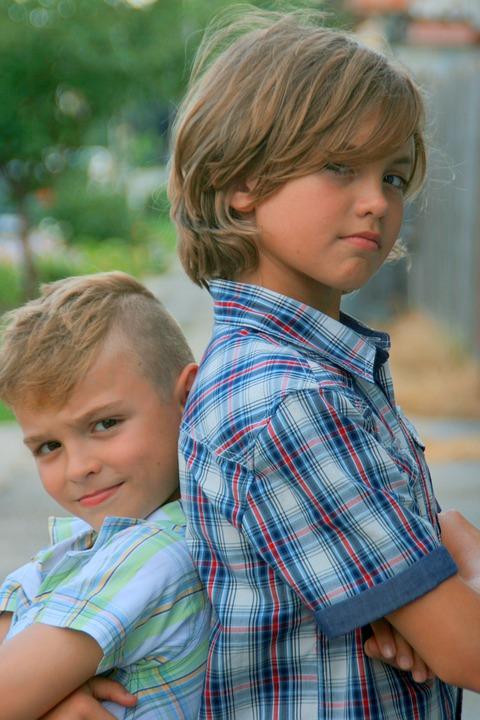 Brothers, Portrait, Blond, Beauty