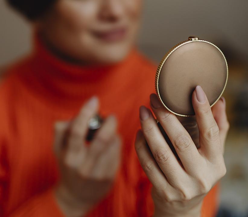 Aesthetics, Applying, Beauty, Compact Mirror