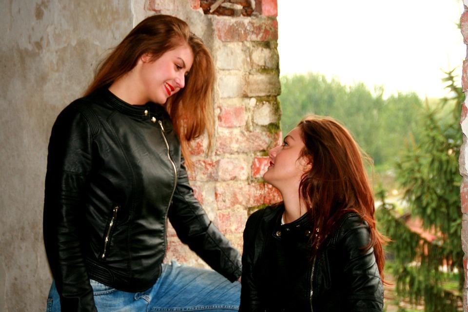 Girl, Friendship, Smile, Beauty, Love