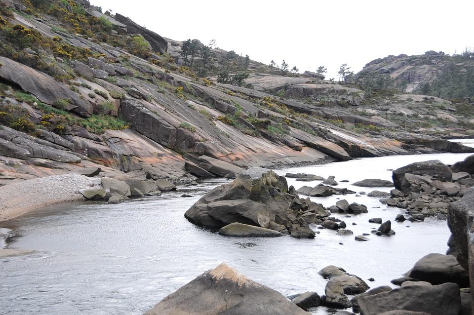 Galicia, ézaro, Beach, Landscape, Blue, Nature, Beauty