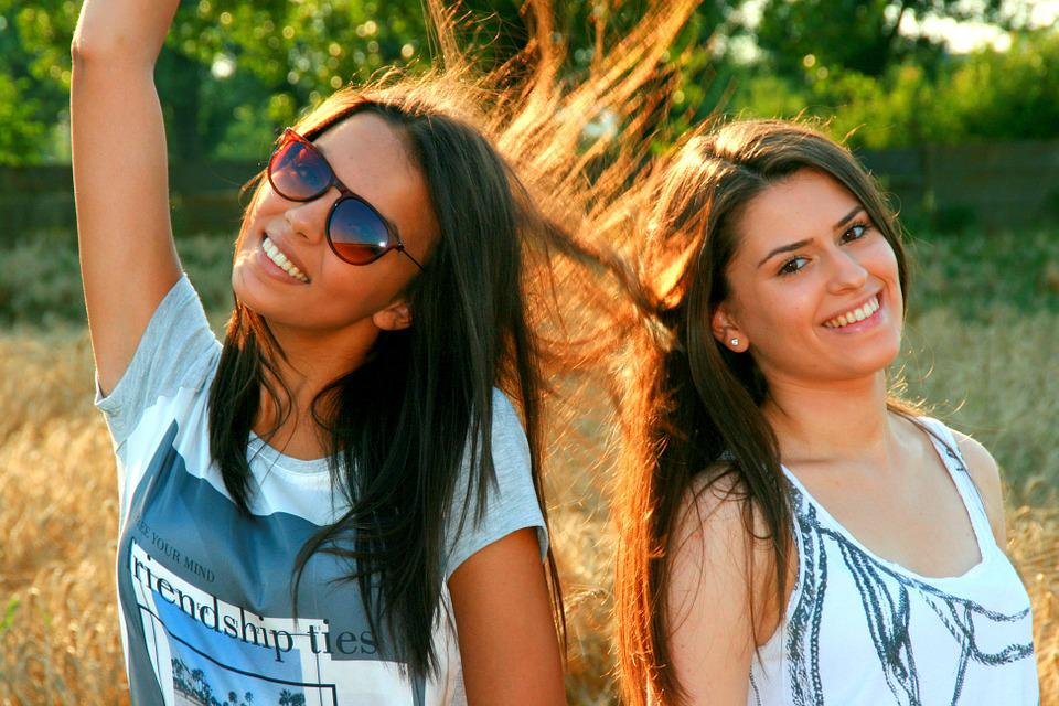 Girls, Friendship, Love, Beauty, Smile