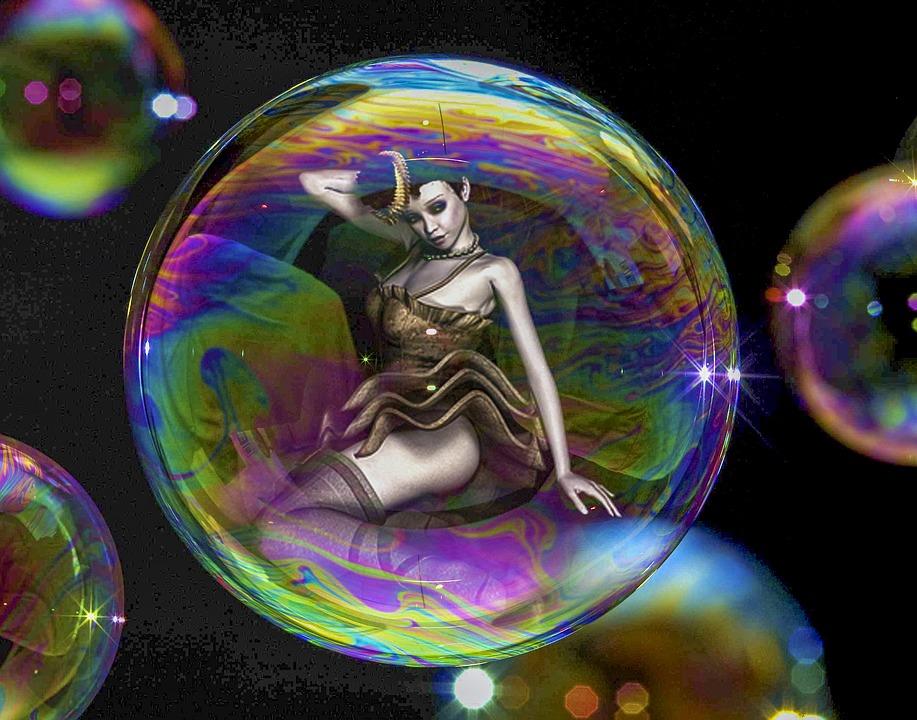 Beauty, Bubble, Fantasy, Woman, Mysterious, Mystical