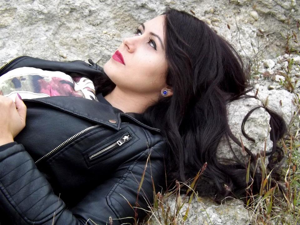 Girl, Portrait, Black Hair, Beauty, Seduction, Skin