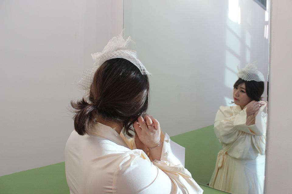 Mirror, Women's, Girl, Reflections, Facial, Beauty