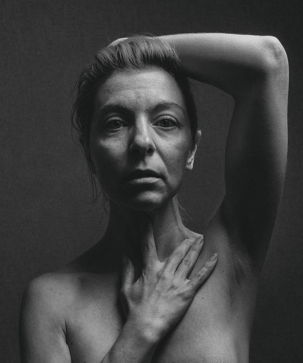 Beauty, Woman, Monochrome, Beautiful, Model, Pose, Look