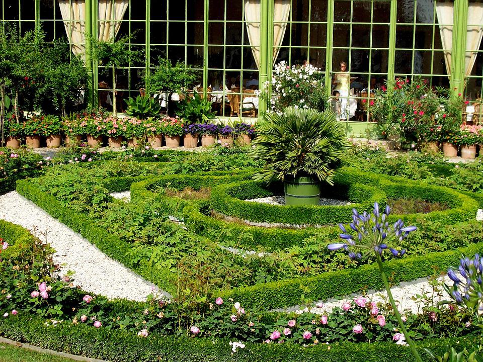 Garden, Herbs, Baroque, Bed, Bed Border