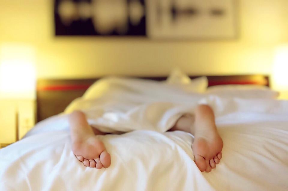 Sleeping, Tired, Bed, Feet