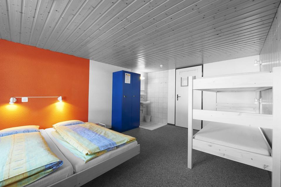 Bed, Room, Hostel