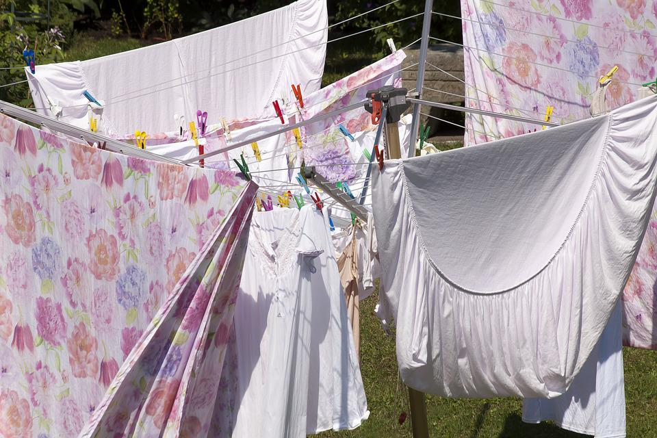 Laundry, Bed Linen, Laundry Spider, Clothes Line