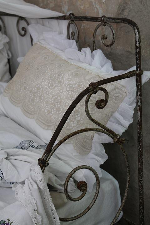 Antique, Shabby, Bed, Metal, Nostalgic, Old, Great