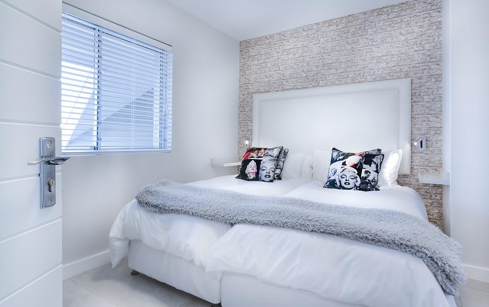 Modern Minimalist Bedroom, Bedroom, Bed, Bedding