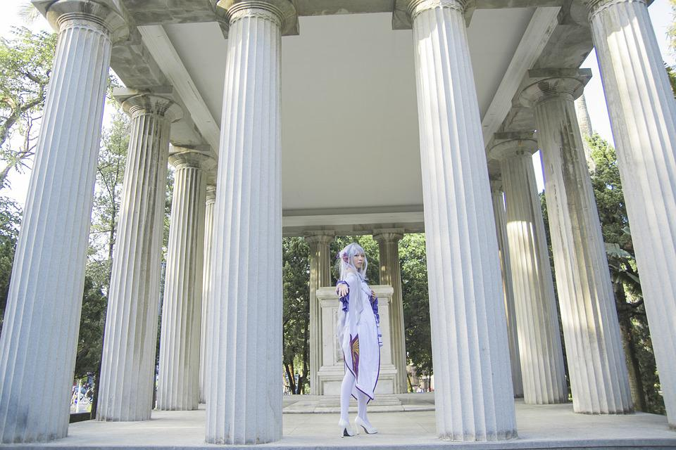 Column, Architecture, Classic, Tower, Bedrock, Cosplay
