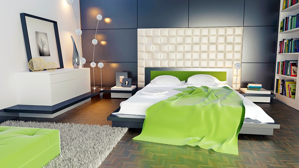 Wall Panel, Room, Bedroom, Apartment, Bed