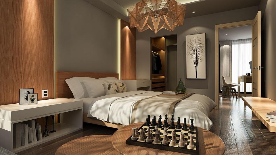 Bedroom, Light, Wood, Wardrobe