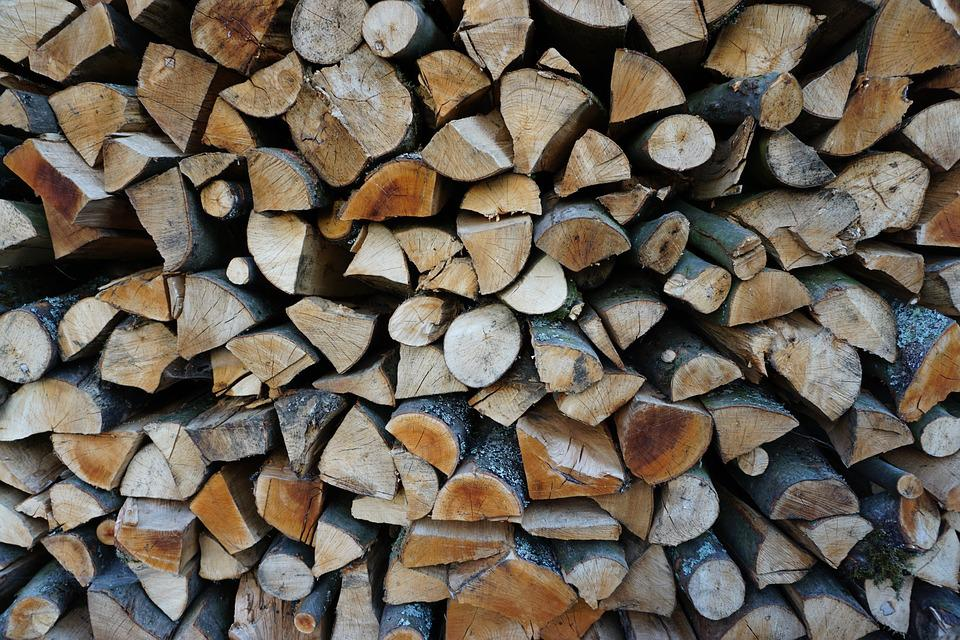 Wood, Beech Firewood, Holzstapel, Timber, Background