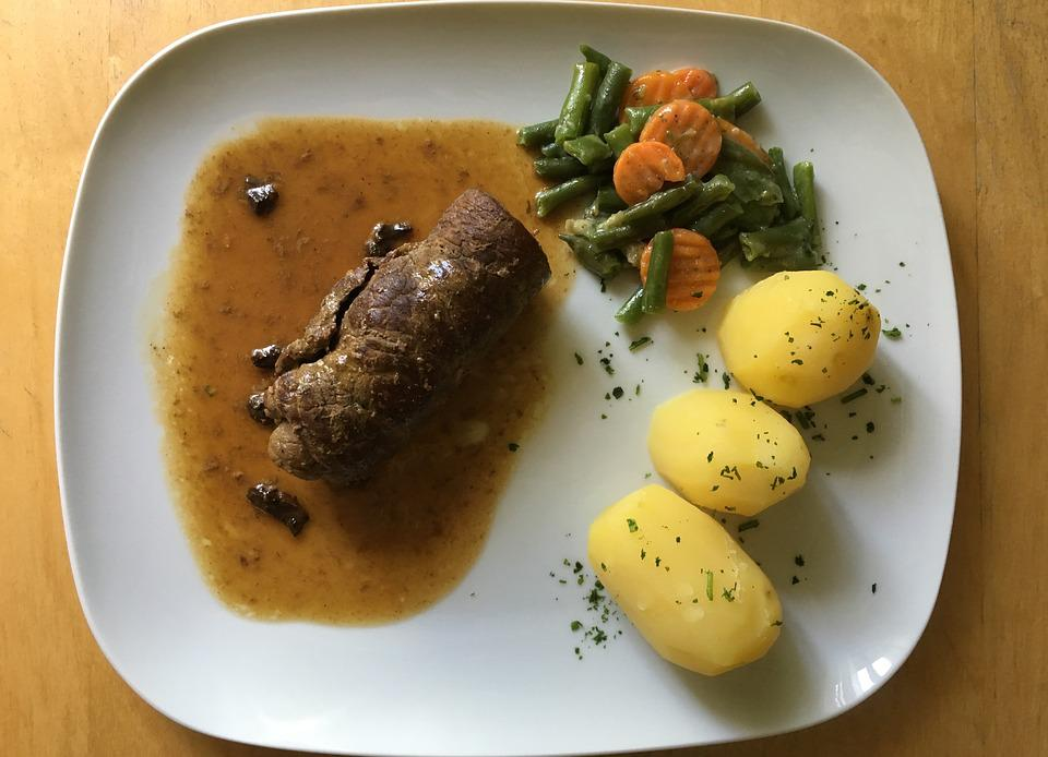 Roulades, Beef, Irish Potatoes, Vegetables, Eat, Cook