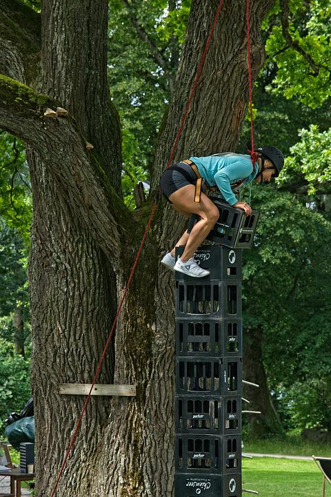 Beer Crates, Climb, Hobby, Sport, Adventure, Nature
