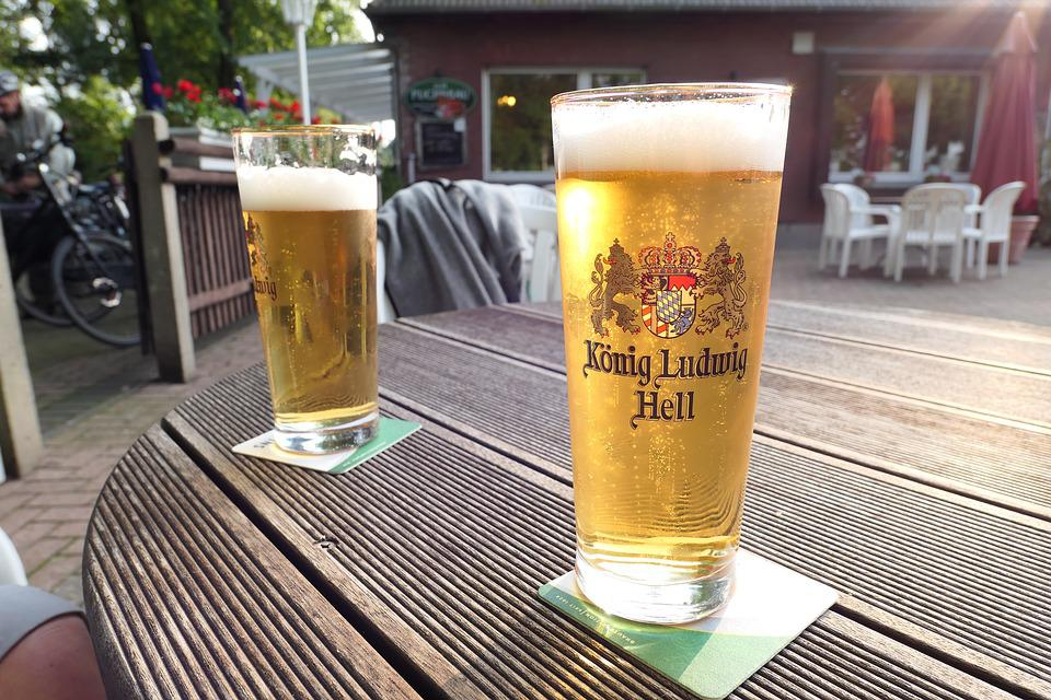 Beer, Beer Garden, Draft Beer, King Ludwig