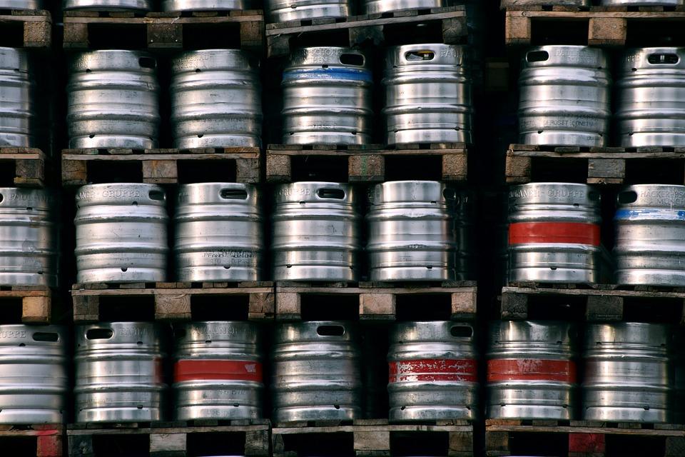 Beer, Beer Barrels, Metal, Small Beer Kegs, Food, Drink