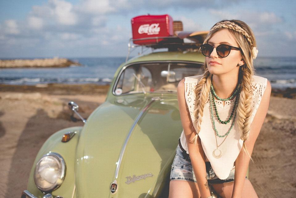 Beach, Beautiful, Beetle, Classic, Girl, Leisure, Ocean