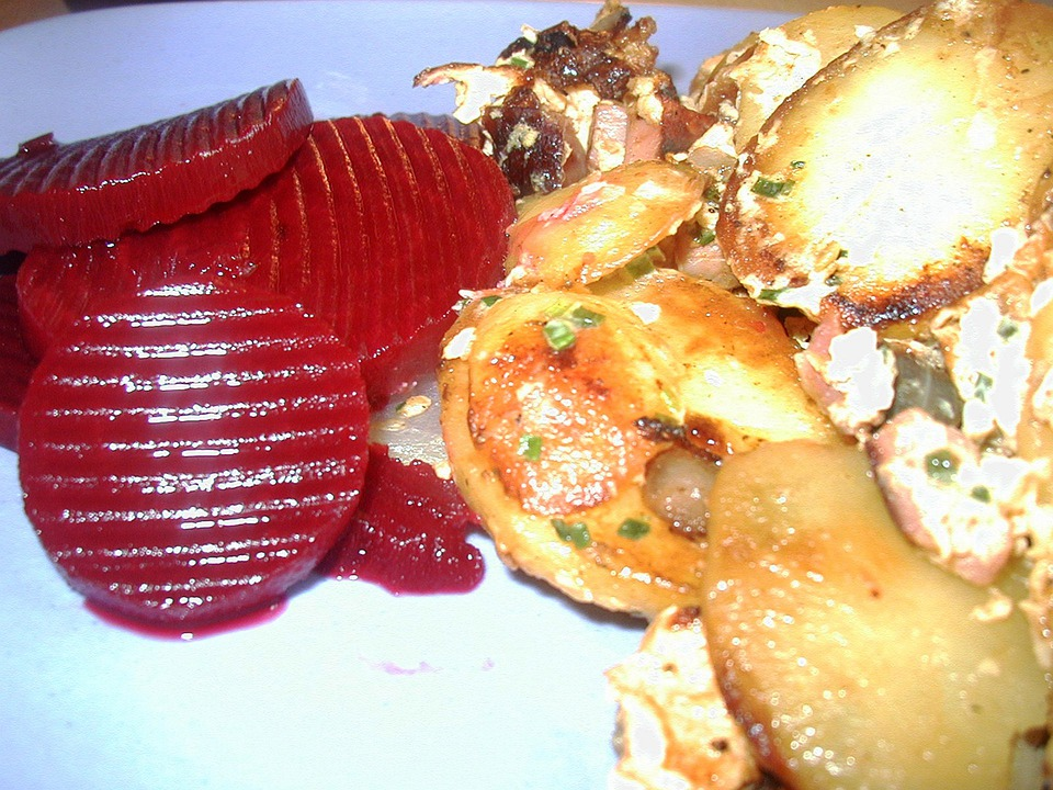 Beetroot, Fried Potatoes, Potatoes, Lunch, Substantial