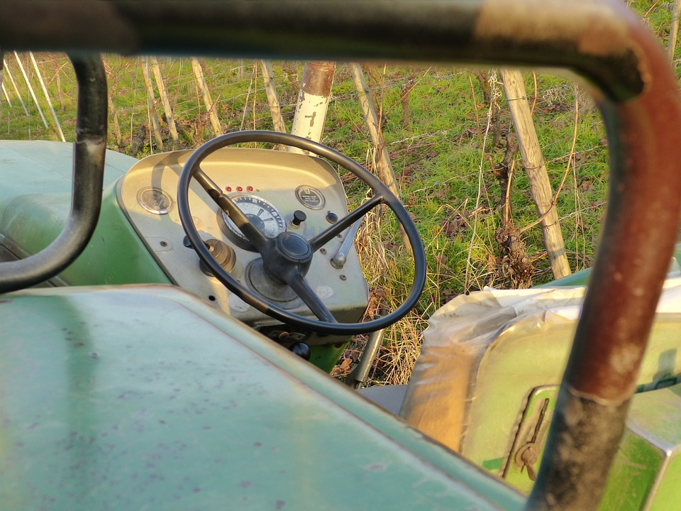 Tractor, Tractors, Steering Wheel, Behind The Wheel