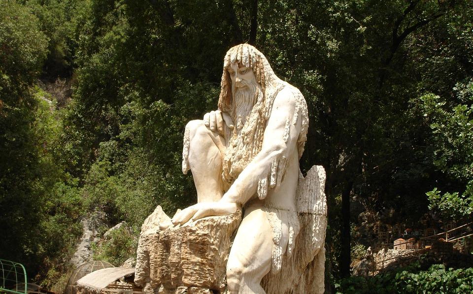 Sculpture, Statue, Old Man, Beirut