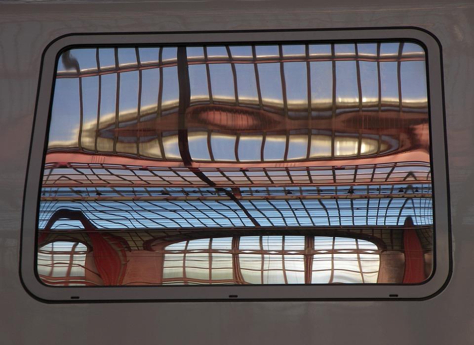 Train, Window, Belgium, Antwerp, Station, Roof