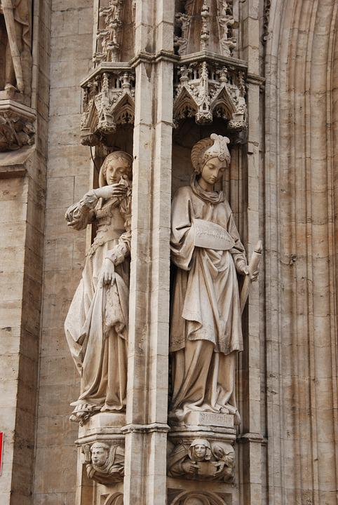 Belgium, Brussels, Grand Place, Image, Statue, Religion