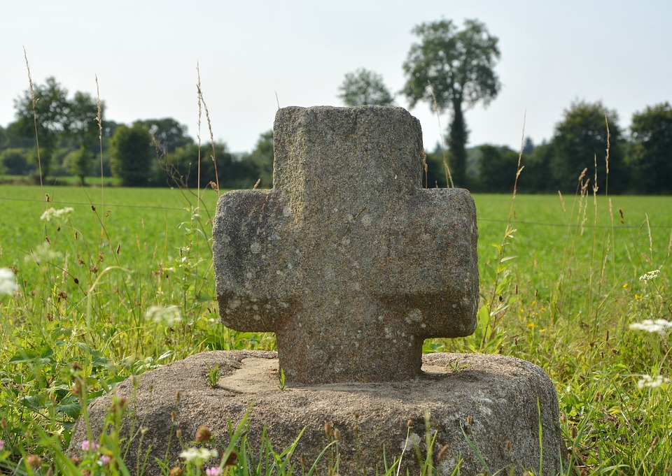 Stone Cross, Sculpture Religious, Religion, Belief