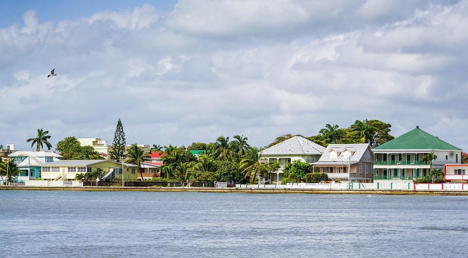 Belize City, Port, Architecture, Belize, Water, Blue