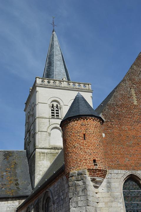 Church, Bell, Tower, Church Of St Nicholas, Ecques