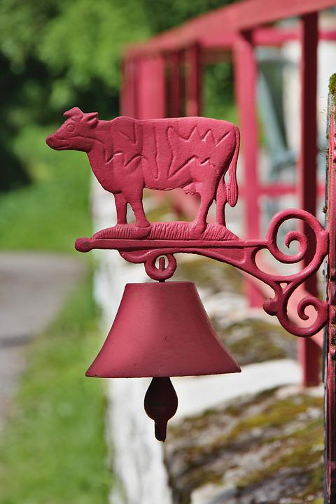 Decoration, Outdoor, Bell, Cow, Wall, House
