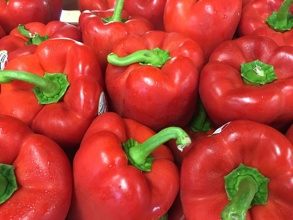 Peppers, Red, Red Peppers, Bell Peppers, Green, Crops