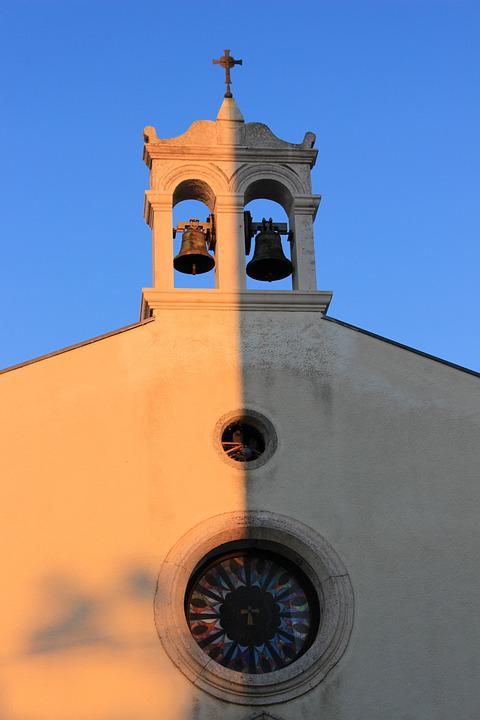 Light And Shadow, Church Buildings, Bell Tower