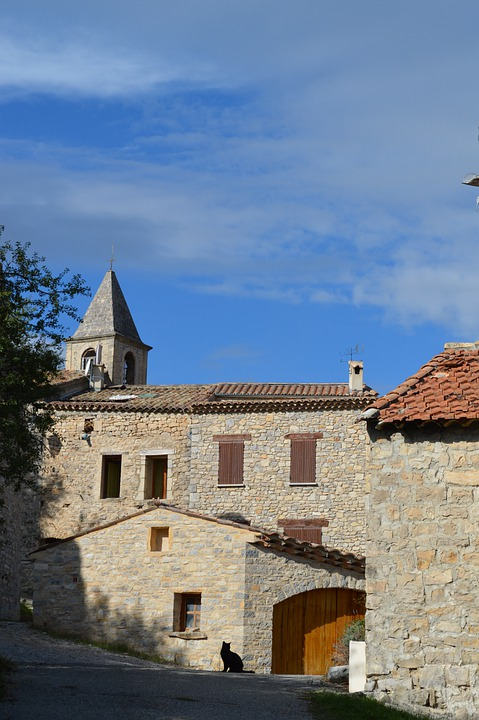 Bell Tower, Village, Houses, Church, Heritage