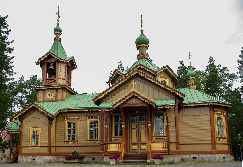 Finland, Church, Bell Tower, Heritage, Wood