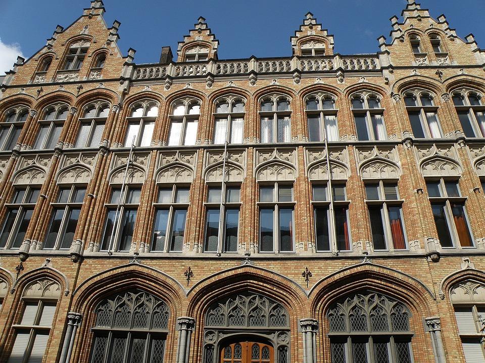 Antwerpen, Belpaire Instituut, Belgium, Facade, Front