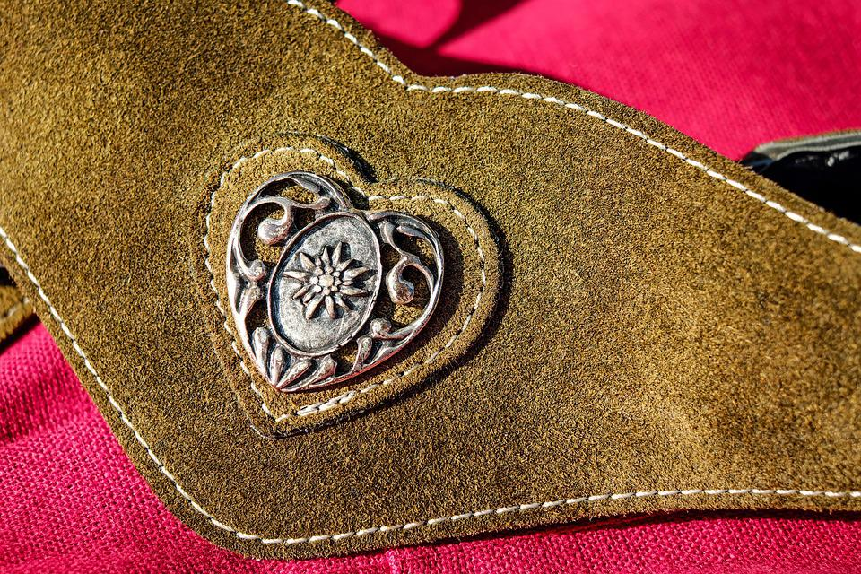 Belts, Leather, Brown, Metal, Costume, Clothing