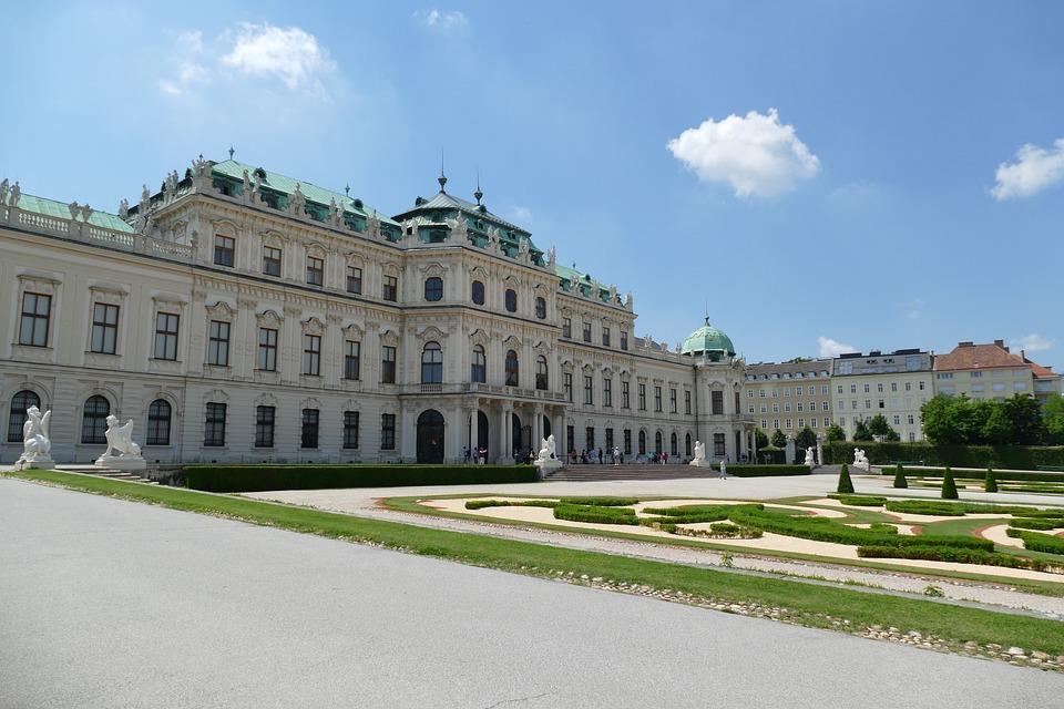 Austria, Palace, Vienna, Belvedere, Castle, Park