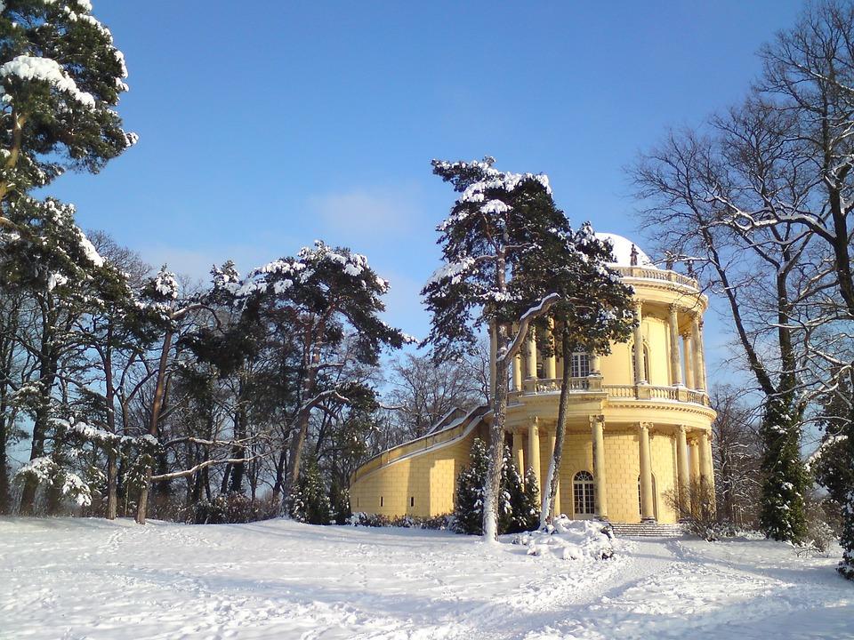 Belvedere, Klausberg, Sanssouci, Potsdam, Winter