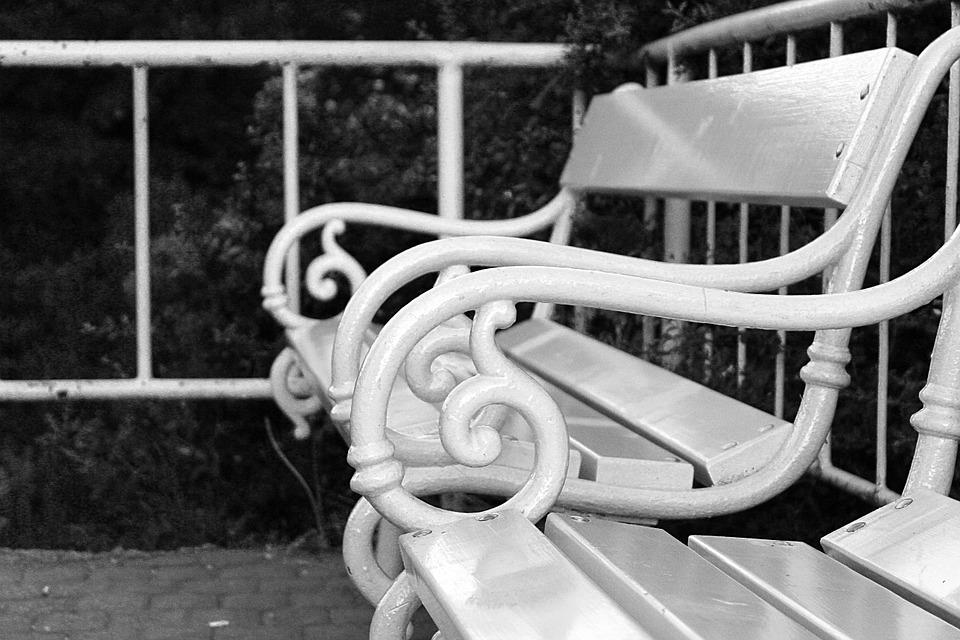 Bench, B W Photography, Black And White