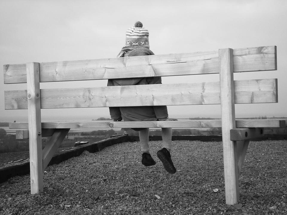 Child, Bench, Black And White, Picture, Girl