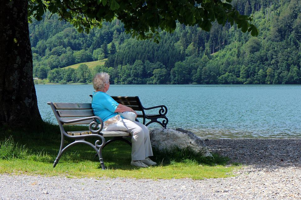 Person, Individually, Woman, Age, Bench, Bank, Relax