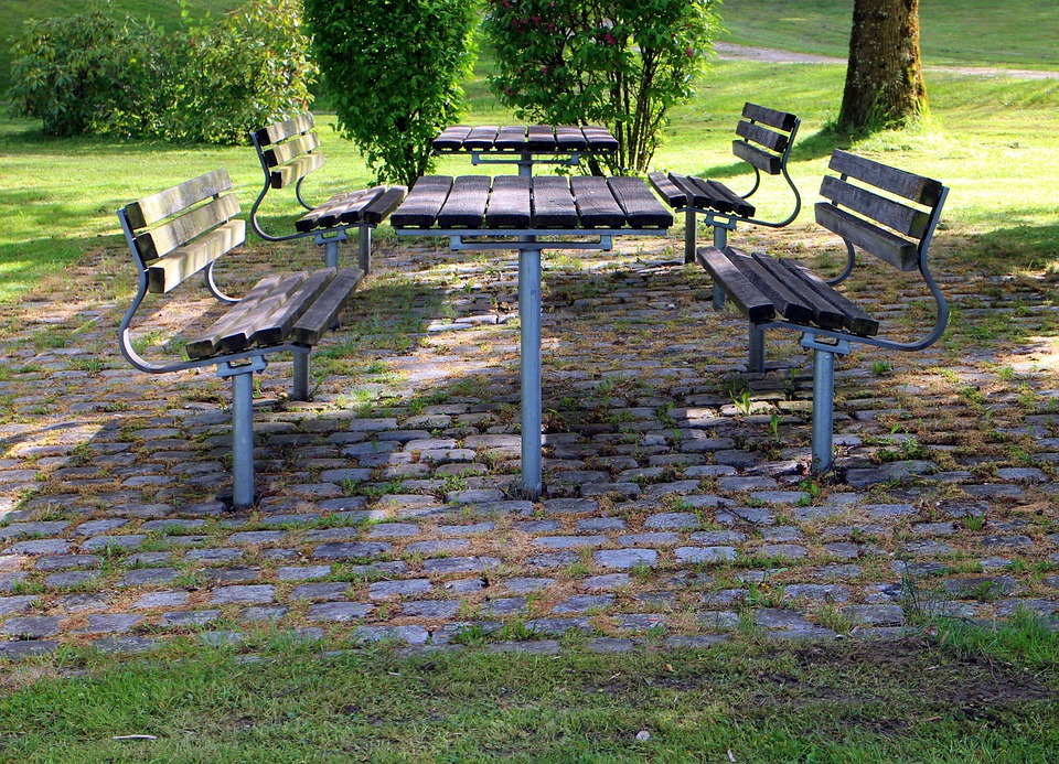 Seat, Bench, Bank, Table, Resting Place, Rest