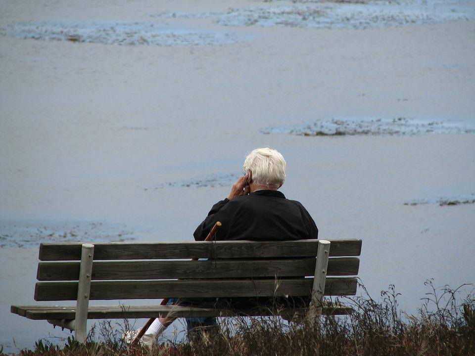 Old Man, Bench, Sitting, Nature, Retired