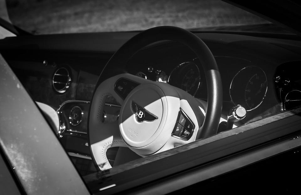 Bentley, Car, Steering Wheel, Bentley Bentayga, Vehicle