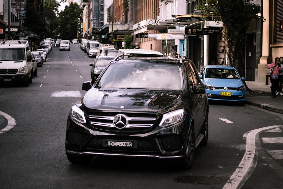 Car, Street, Driving, Mercedes, Benz, Suv, Road, Travel