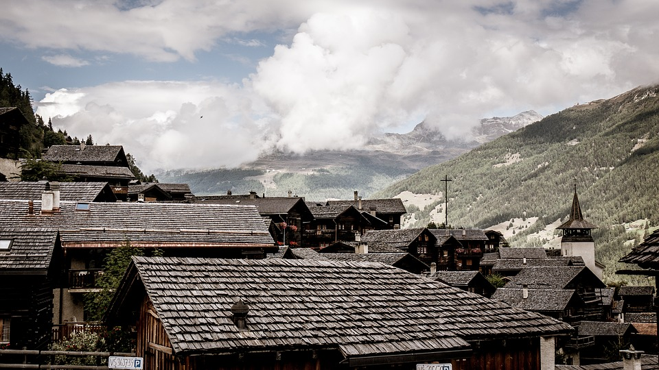 Valais, Switzerland, Grimentz, Cinematic, Bergdorf